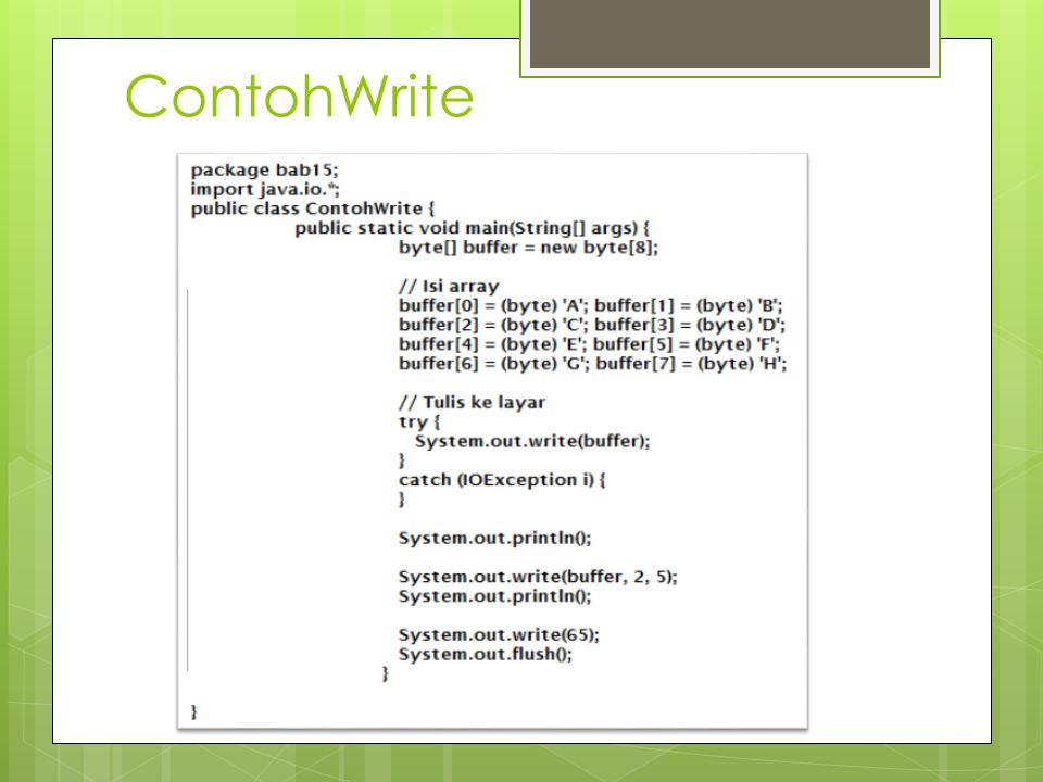 ContohWrite