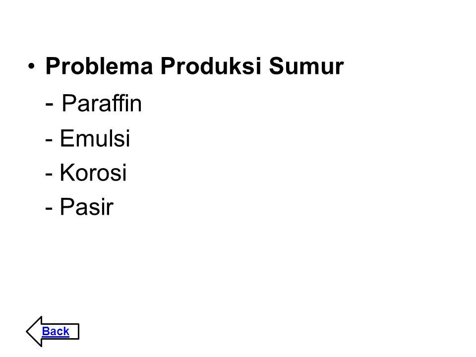 Problema Produksi Sumur - Paraffin - Emulsi - Korosi - Pasir Back