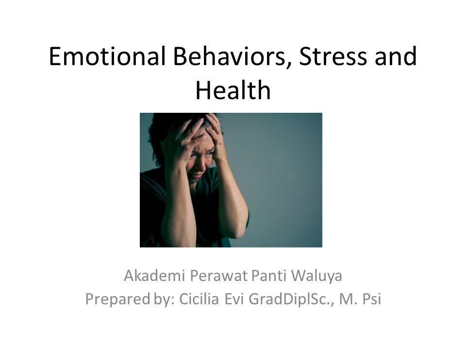 Stress Efek tidak langsung pada kesehatan  merubah pola makan, tidur dan kebiasaan mengkonsumsi alkohol Efek langsung pada kesehatan  mengganggu ingatan, sistem kekebalan tubuh, meningkatnya kemungkinan gangguan jantung dan kanker
