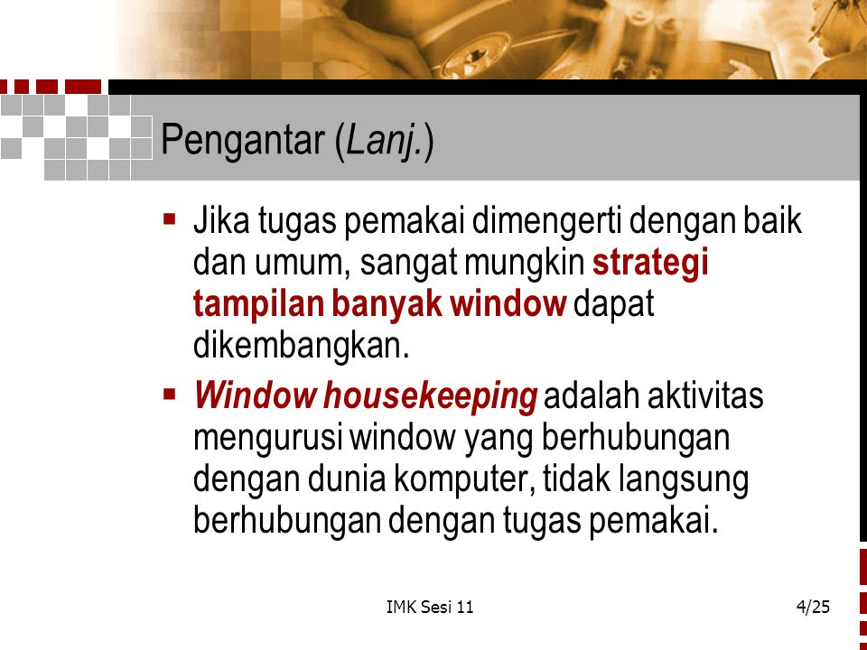 IMK Sesi 1125/25 Window dan Web ( Lanj.