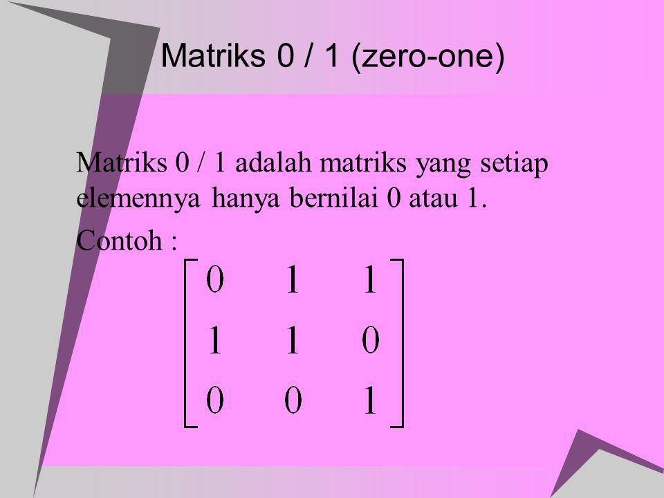 Tolak Setangkup  Relasi R pada himpunan A disebut tolak setangkup jika untuk semua a,b  A, (a,b)  R dan (b,a)  R hanya jika a = b