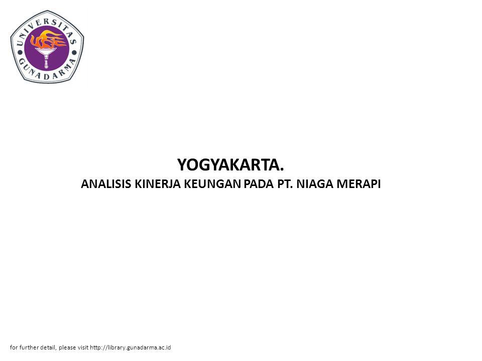 Abstrak ABSTRAK Ema Sundari.10208434. ANALISIS KINERJA KEUNGAN PADA PT.