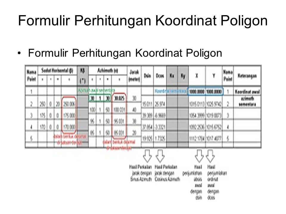 Formulir Perhitungan Koordinat Poligon