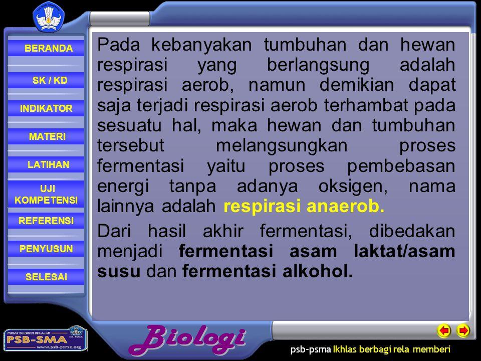 psb-psma Ikhlas berbagi rela memberi REFERENSI LATIHAN MATERI PENYUSUN INDIKATOR SK / KD UJI KOMPETENSI BERANDA SELESAI Catabolism / Katabolisme In ea