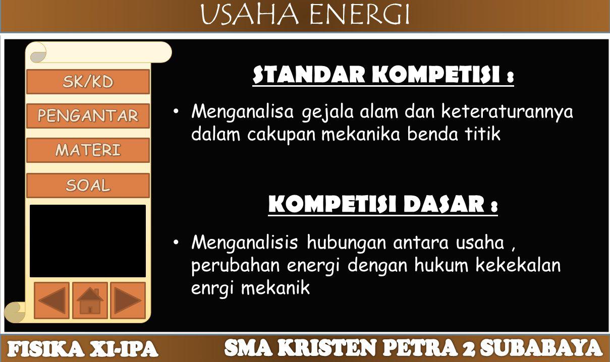 USAHA ENERGI UsahaEp dan EkEnergi MekanikDaya DAYA = usaha persatuan waktu.