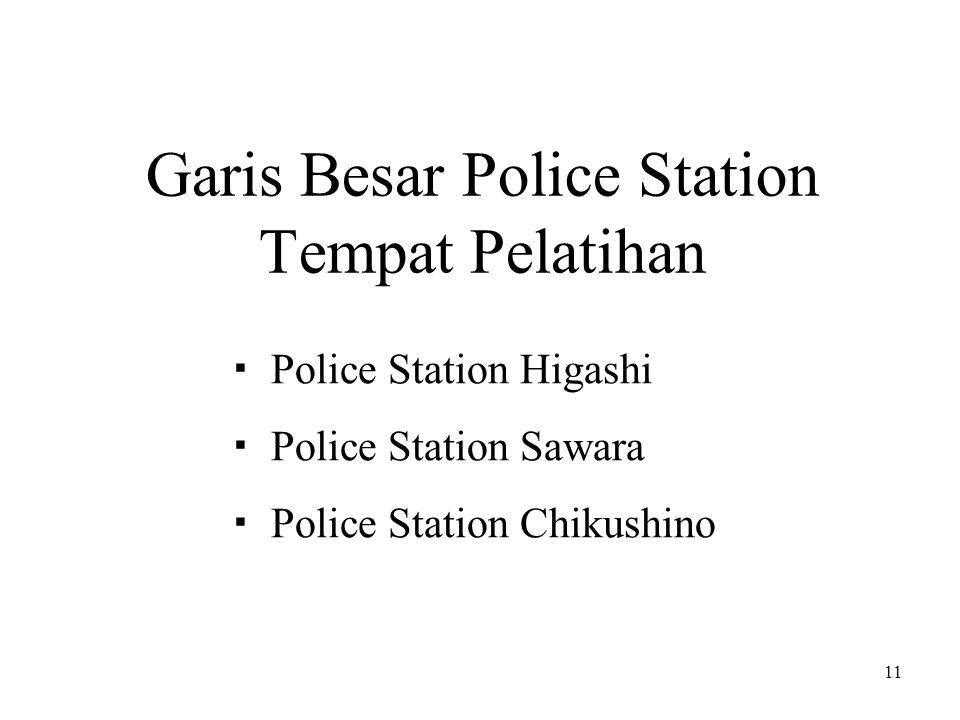11 Garis Besar Police Station Tempat Pelatihan  Police Station Higashi  Police Station Sawara  Police Station Chikushino