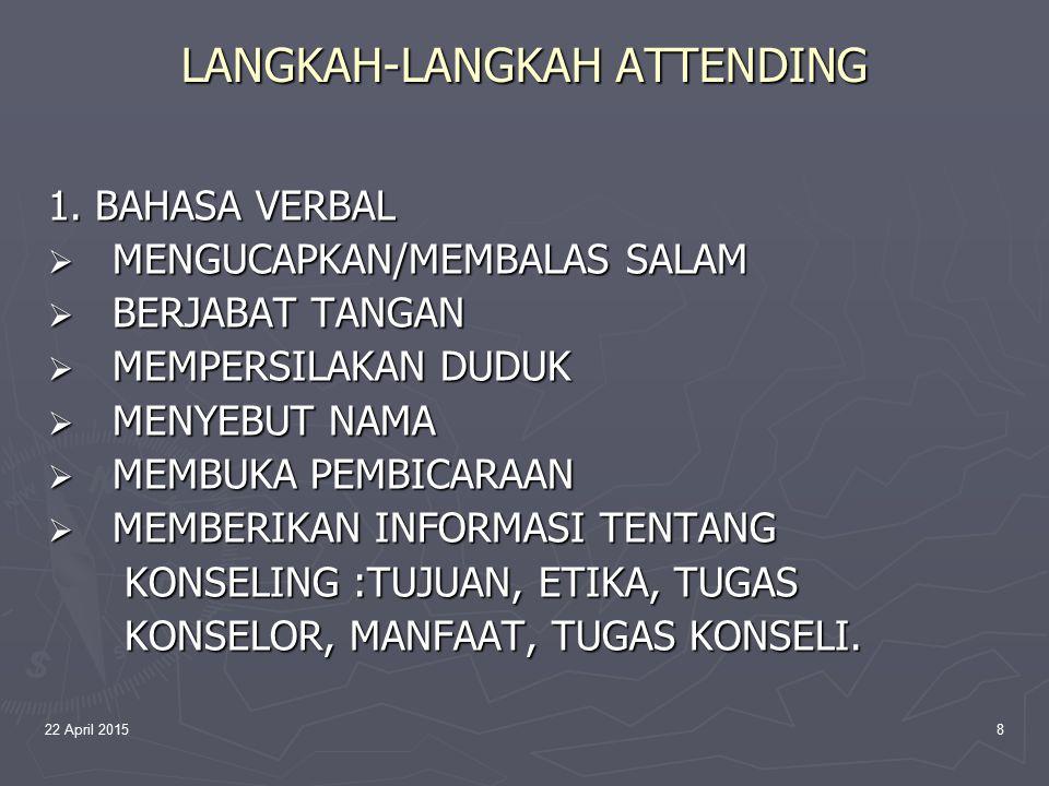 22 April 20159 LANGKAH-LANGKAH ATTENDING 2.