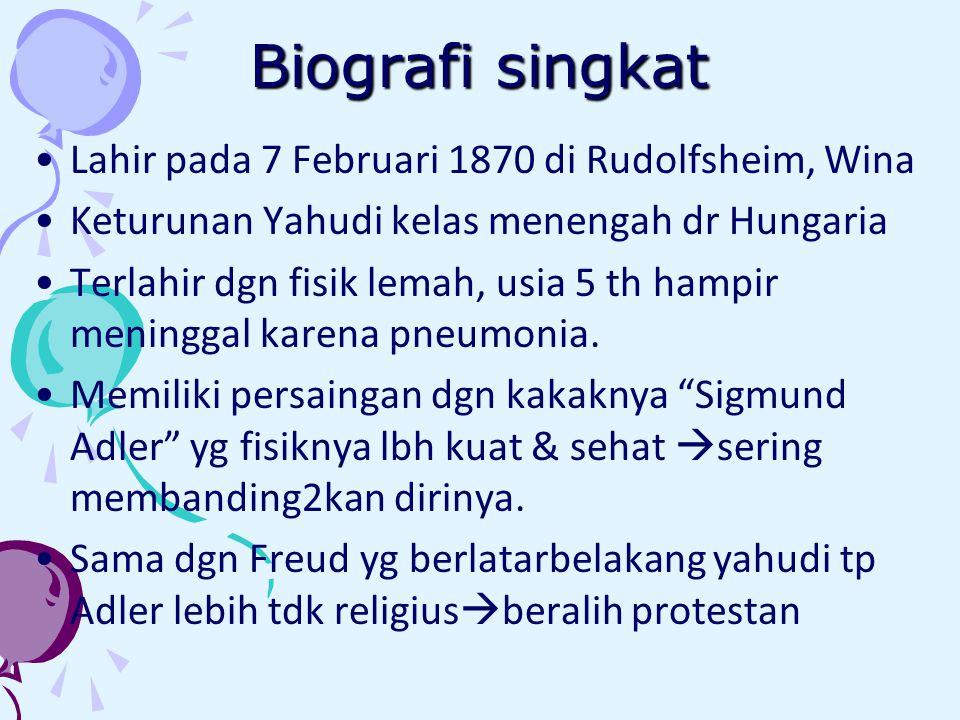 Biografi singkat Lahir pada 7 Februari 1870 di Rudolfsheim, Wina Keturunan Yahudi kelas menengah dr Hungaria Terlahir dgn fisik lemah, usia 5 th hampir meninggal karena pneumonia.