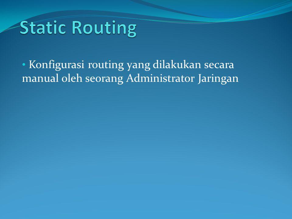 Konfigurasi routing yang dilakukan secara manual oleh seorang Administrator Jaringan