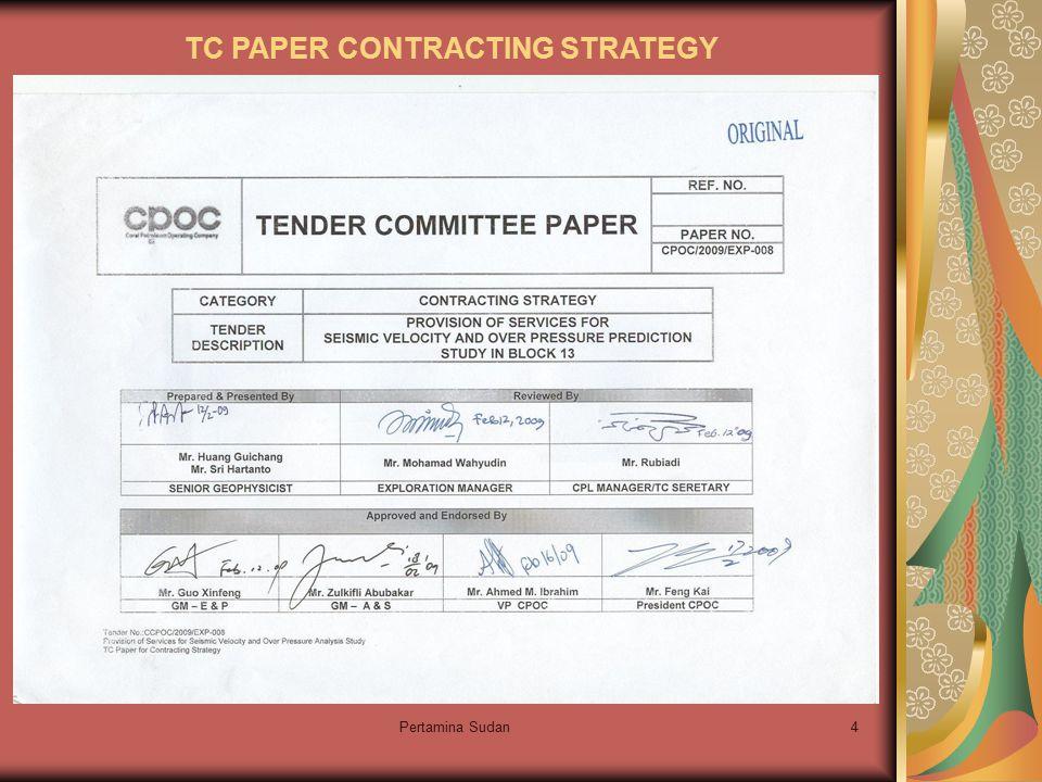 Pertamina Sudan15 I T B Mendesaknya waktu yang diberikan untuk pengiriman ITB untuk para Bidder, sementara dokumen ITB belum siap karena review dokumen diterima dari reviewer terakhir(VP) 1 hari sebelum date line, sehingga menimbulkan beberapa permasalahan dalam ITB tersebut.