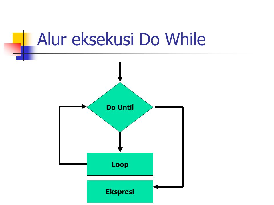 Alur eksekusi Do While Do Until Loop Ekspresi