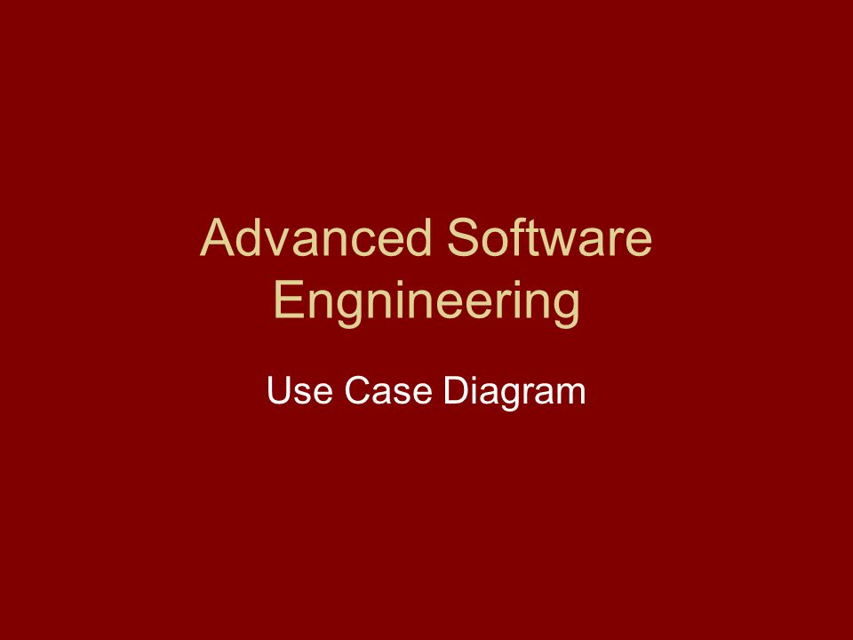 Advanced Software Engnineering Use Case Diagram
