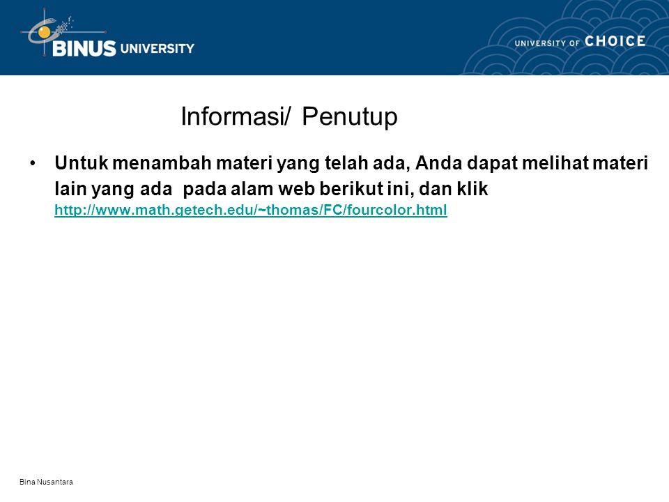 Bina Nusantara Contoh Adakah graph dengan 1 warna????