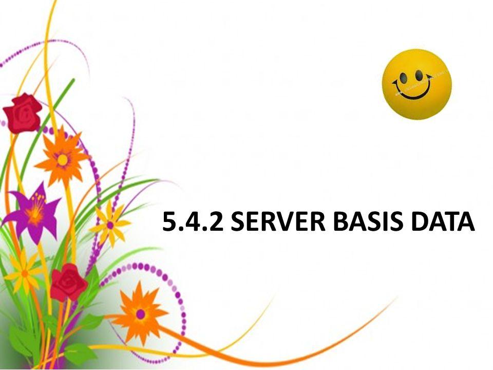 5.4.2 SERVER BASIS DATA