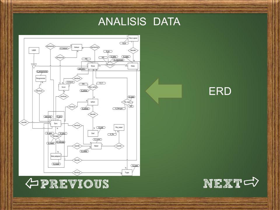 ANALISIS DATA ERD