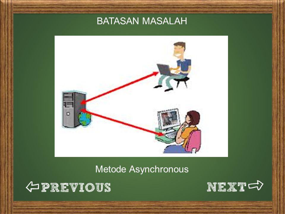 BATASAN MASALAH Metode Asynchronous