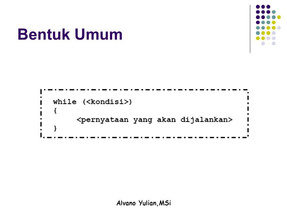 Alvano Yulian,MSi Bentuk Umum