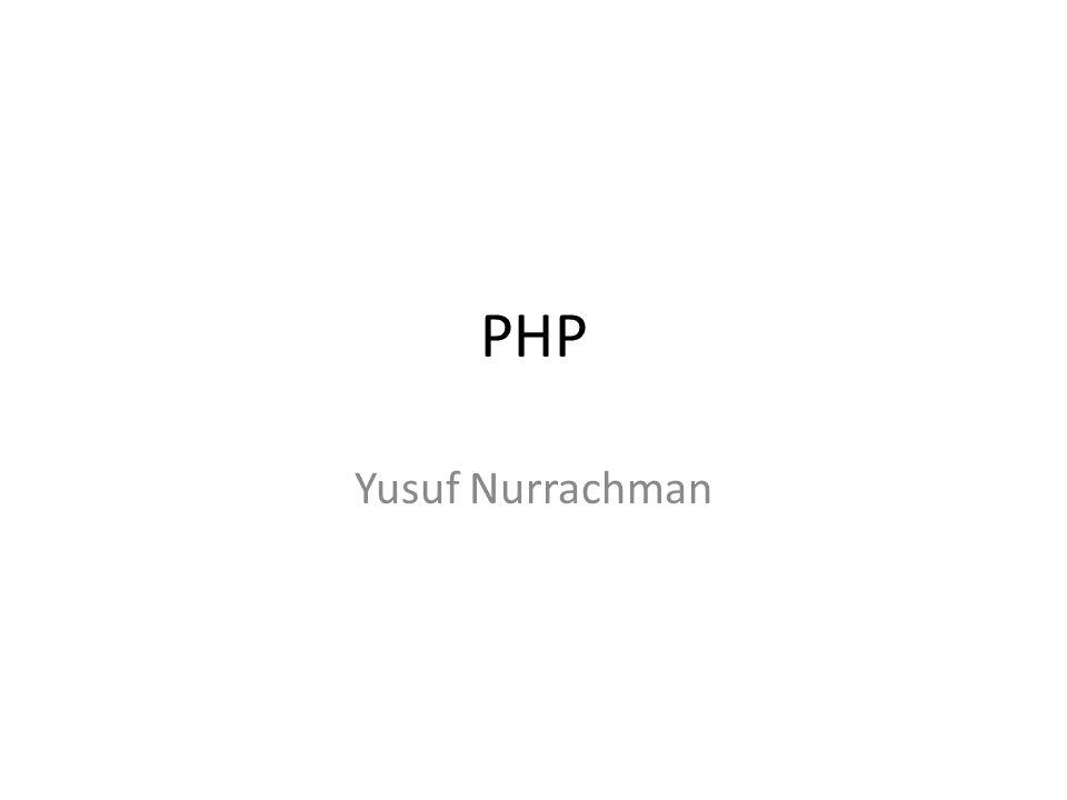 PHP Yusuf Nurrachman