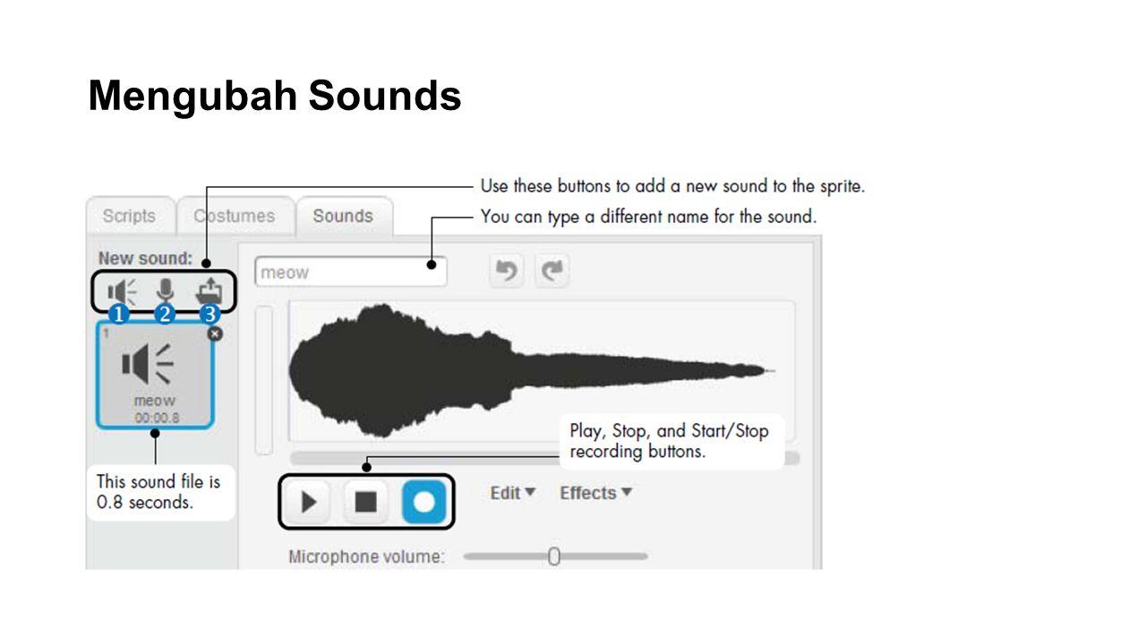 Mengubah Sounds