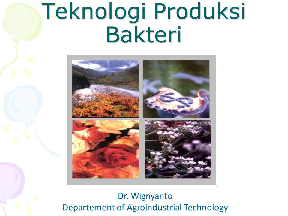 Teknologi Produksi Bakteri Dr. Wignyanto Departement of Agroindustrial Technology