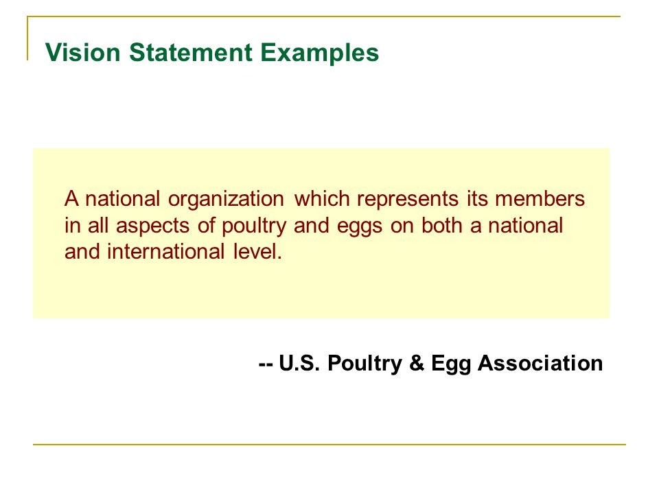 A national organization which represents its members in all aspects of poultry and eggs on both a national and international level.