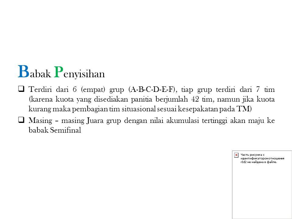 M ETODE SOAL Untuk Babak Penyisihan Adalah CERDAS CERMAT (3 Varian Soal)