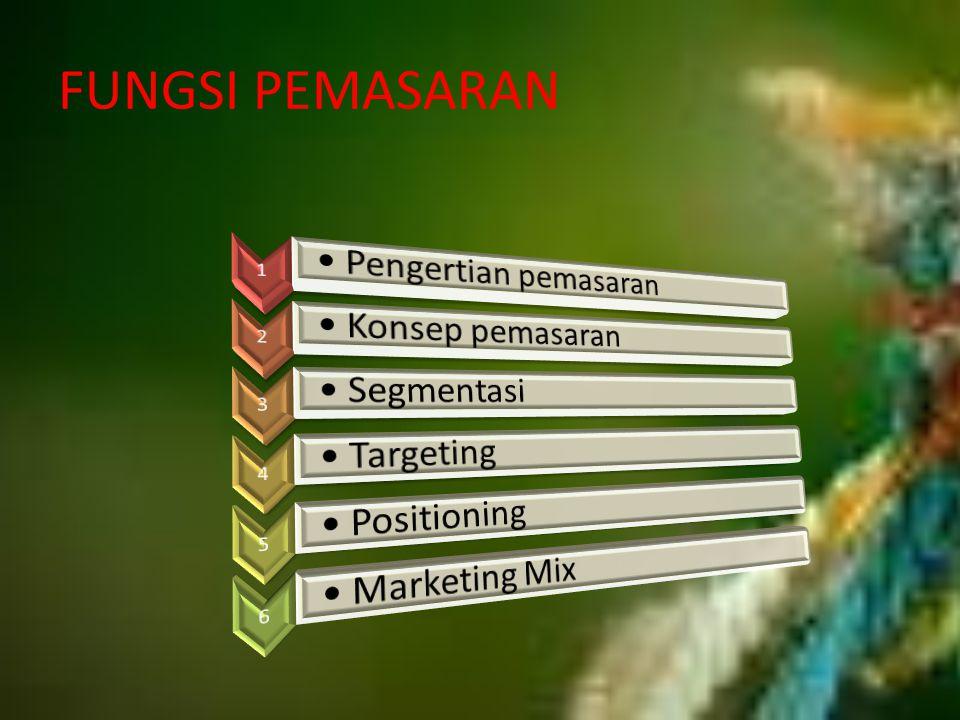 Pola Segmentasi Pasar 1.Homogeneus preference (preferensi homogen) 2.