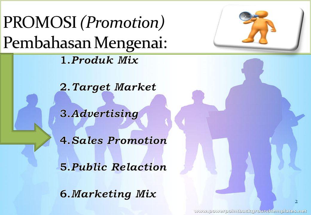 12 Mission Money Sasaran iklan Tujuan iklan Sasaran iklan Tujuan iklan Faktor – faktor pertimbangan : Tahap dalam siklus hidup produk.