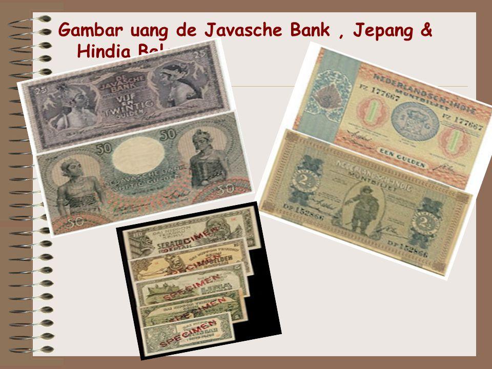 Gambar uang de Javasche Bank, Jepang & Hindia Belanda