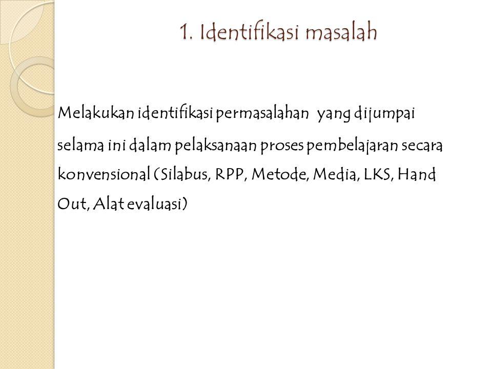 TAHAPAN PLAN 1.Identifikasi masalah 2. Membuat RPP dan Skenario Pembelajaran 3.