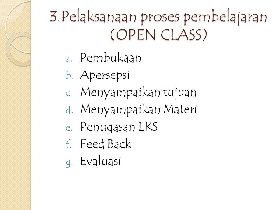 2.Penjelasan guru model a.Rencana dan tujuan Pembelajaran b.