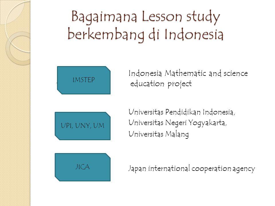 Lesson study Berasal dari Jepang Jugyokenkyu – Jepang – 1900an Jugyo = lesson = pembelajaran Kenkyu = study atau research Study atau penelitian atau pengkajian terhadap pembelajaran