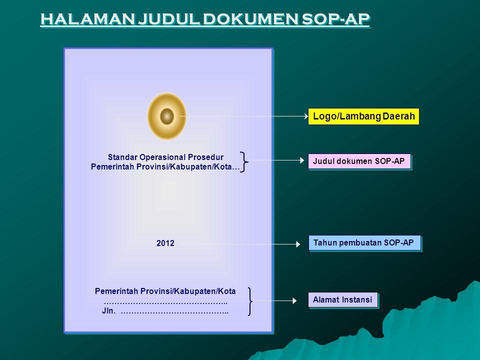Berisi prosedur-prosedur yang distandarkan secara keseluruhan sehingga membentuk suatu kesatuan proses, meliputi : A.