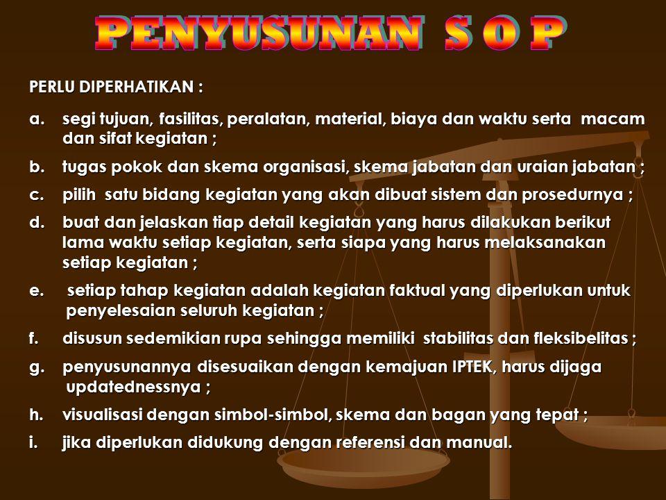 TIM PENYUSUN SOP UNIT KERJA MANDIRI/UPT Menyusun Ranc. Do- kumen SOP dan menyampaikan ke- pada Tim Pe-nyusun SOP-AP Unit Kerja Mandi-ri Pembina untuk