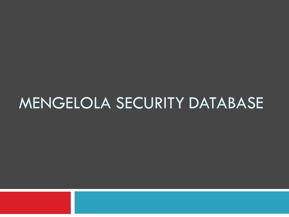 Mengakifkan Keamanan Standar  Aktifkan perintah melihat database  Aktifkan database mysql dan lihat tabel-tabel yang ada pada database mysql Lima buah tabel yang dapat mengatur use dan izin akses masing-masing user (user privilages) : User, db, host, tables_priv, columns_priv.