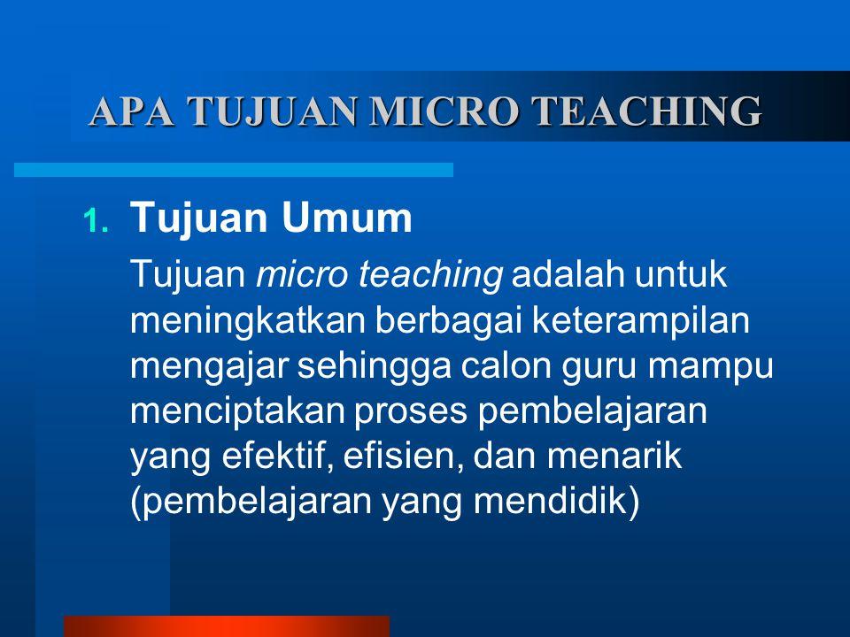 APA TUJUAN MICRO TEACHING 1.