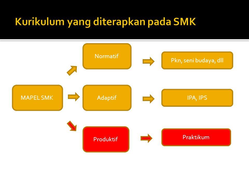MAPEL SMK Produktif Adaptif Normatif Praktikum IPA, IPS Pkn, seni budaya, dll