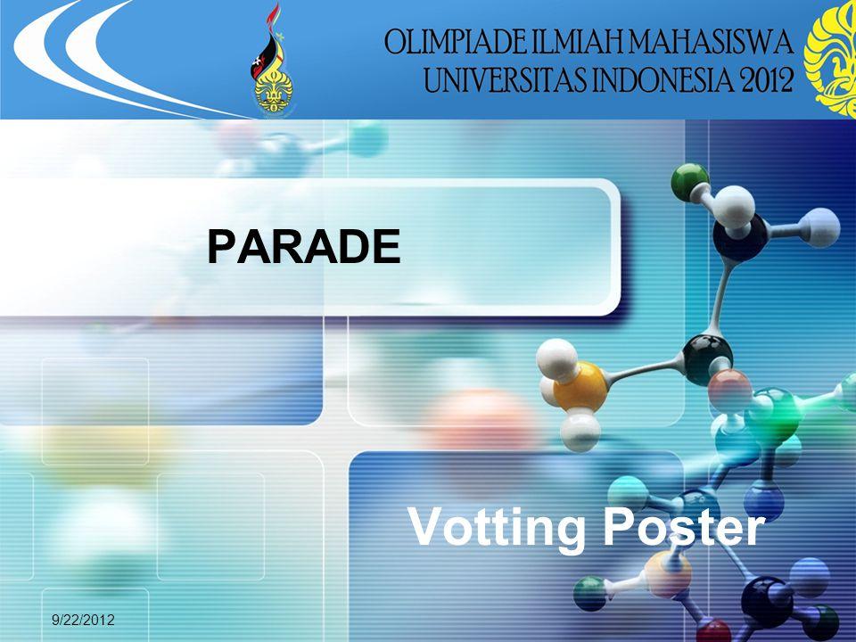LOGO 9/22/2012 Votting Poster PARADE