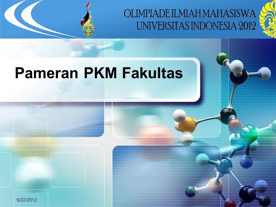 LOGO 9/22/2012 Pameran PKM Fakultas