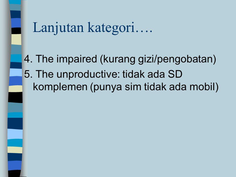 4.The impaired (kurang gizi/pengobatan) 5.