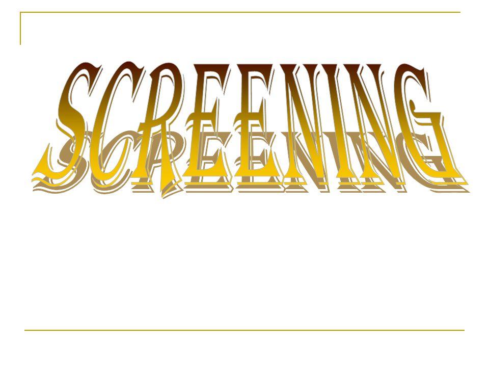 Screening merupakan salah satu proses pemisahan bahan- bahan berdasarkan ukuran.