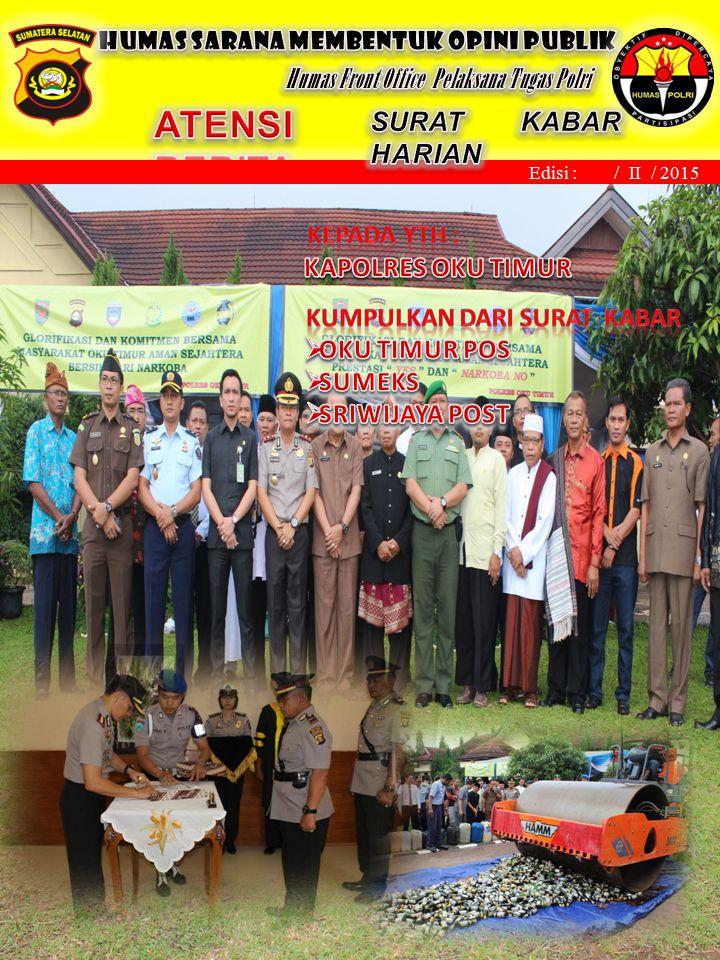 Martapura, November 2013 Edisi : / II / 2015