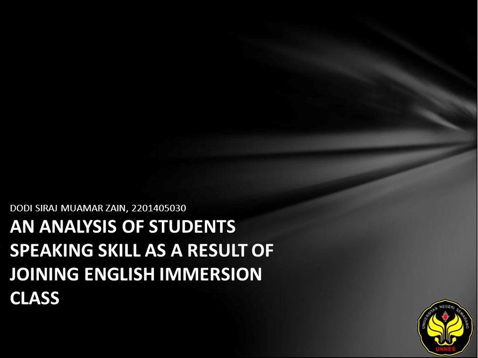 Identitas Mahasiswa - NAMA : DODI SIRAJ MUAMAR ZAIN - NIM : 2201405030 - PRODI : Pendidikan Bahasa Inggris - JURUSAN : BAHASA & SASTRA INGGRIS - FAKULTAS : Bahasa dan Seni - EMAIL : flash_boy777 pada domain yahoo.com - PEMBIMBING 1 : Dr.