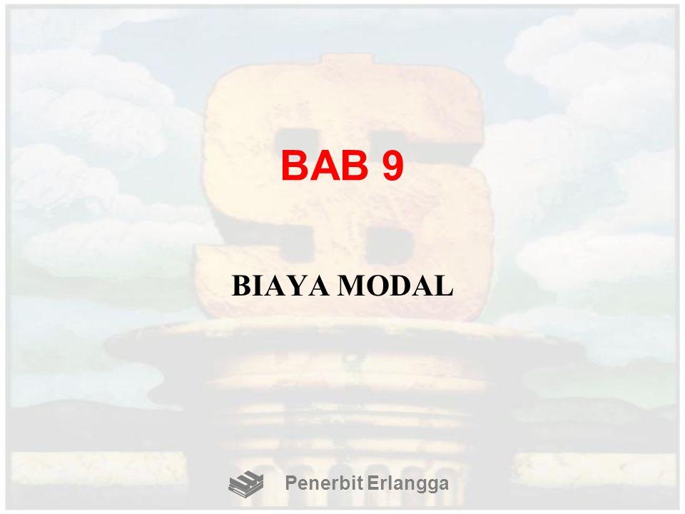 BAB 9 BIAYA MODAL Penerbit Erlangga