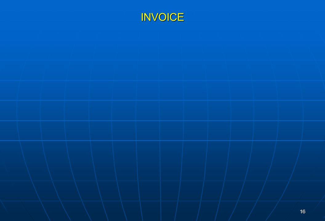16 INVOICE
