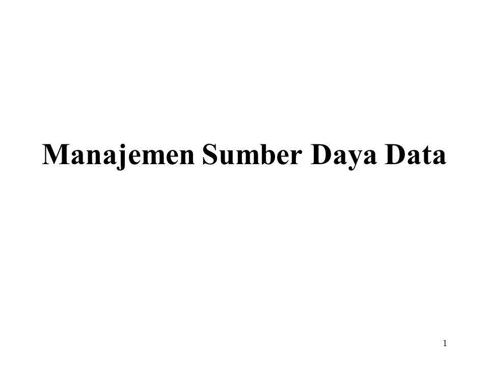 1 Manajemen Sumber Daya Data