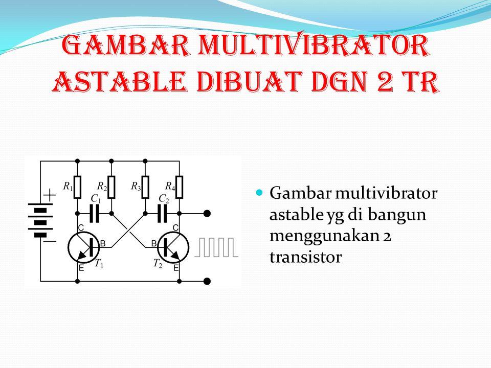 Astabil Multivibrator Astable multivibrator atau disebut freerunning multivibrator adalah mutivibrator yang tidak mempunyai stable state yang permanen