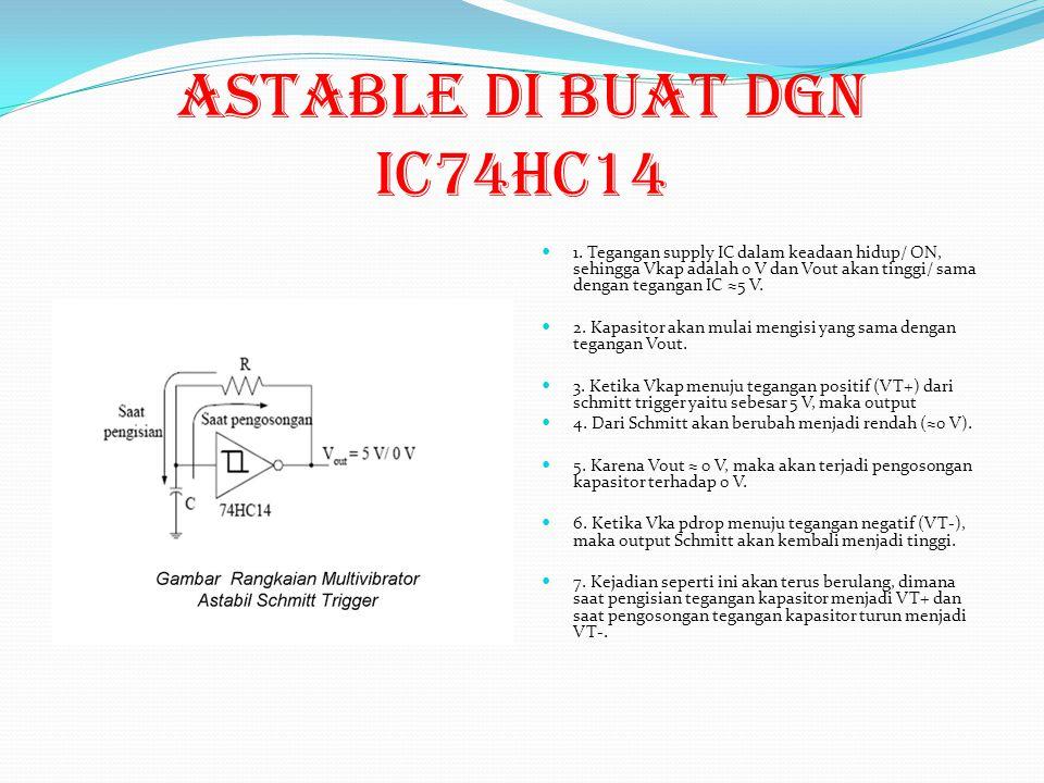 ASTABLE di buat dgn ic74HC14 1.