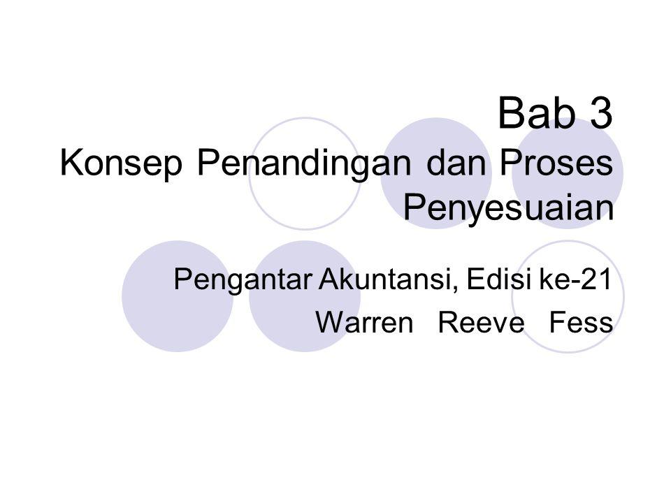 Bab 3 Konsep Penandingan dan Proses Penyesuaian Pengantar Akuntansi, Edisi ke-21 Warren Reeve Fess