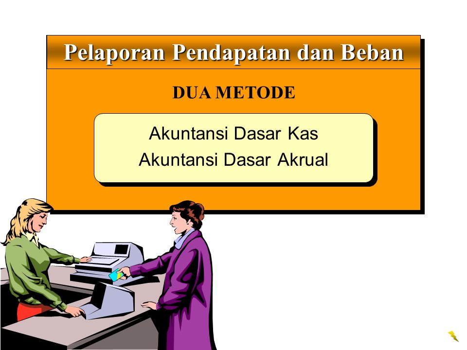 DUA METODE Pelaporan Pendapatan dan Beban Akuntansi Dasar Kas Akuntansi Dasar Akrual